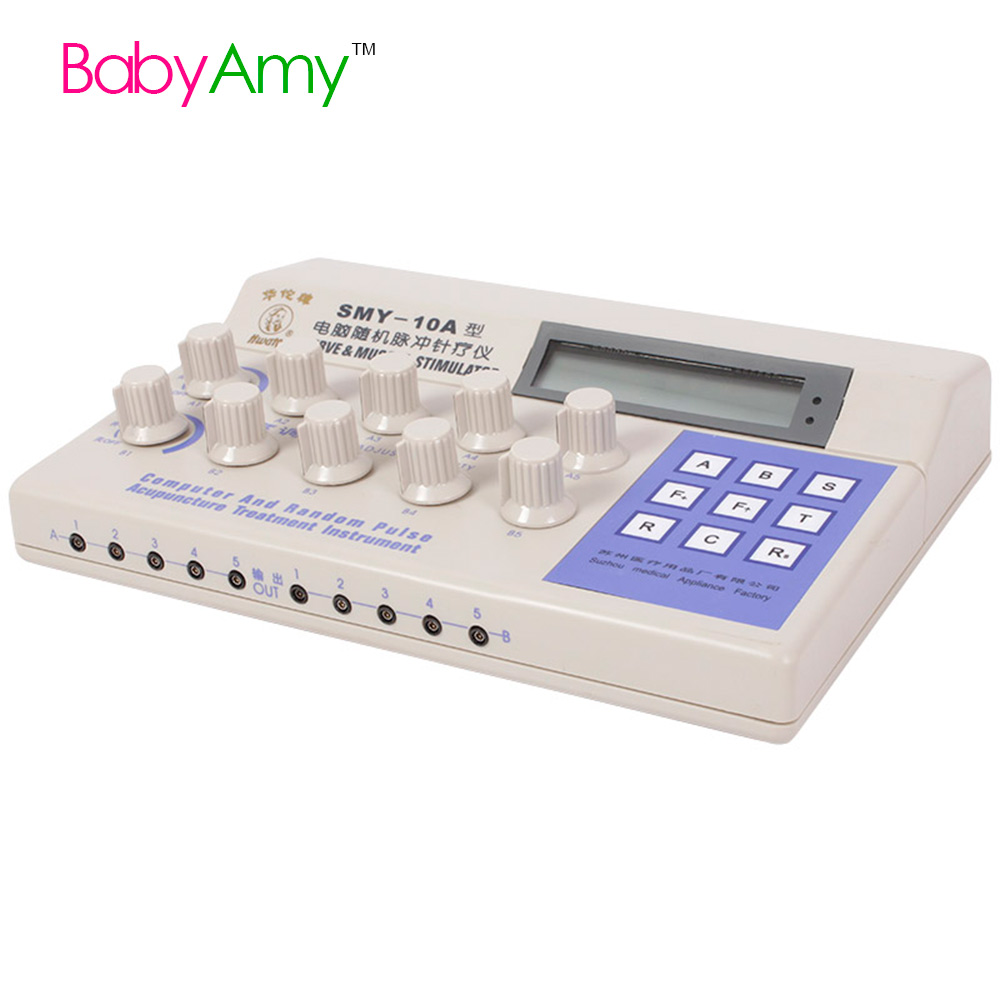 SMY-10A Nerve Muscle Stimulator Computer Random Pulse 10 Channel Electronic Pulse Acupuncture Therapeutic TENS EMS Massage(China (Mainland))