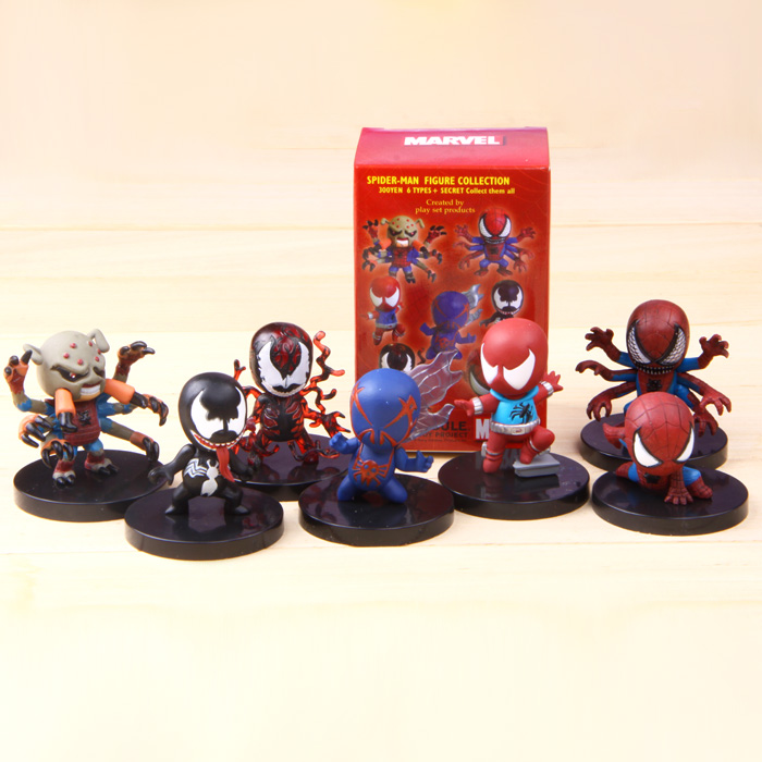 2015 New The Avengers Spider man Spiderman 7 style/ Set Figure Collection Toy TAsm7 Free Shipping(China (Mainland))