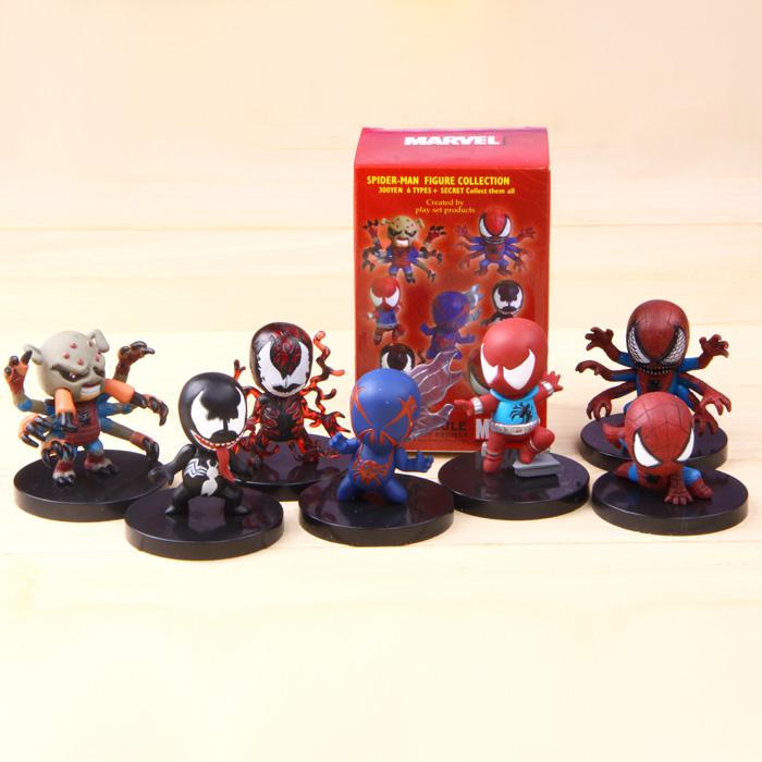Гаджет  [2014 new]The Avengers Spider man spiderman 7 Types/ Set Figure Collection Toy  TAsm6 Free Shipping None Игрушки и Хобби