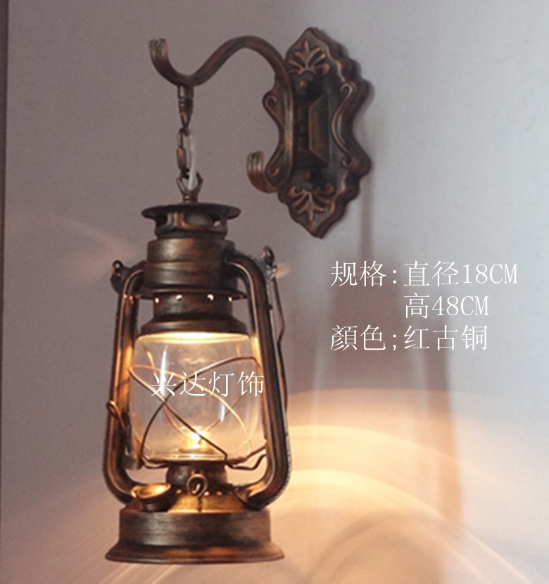 Vintage laterne wandleuchte petroleumlampe nostalgische for Nostalgische lampen