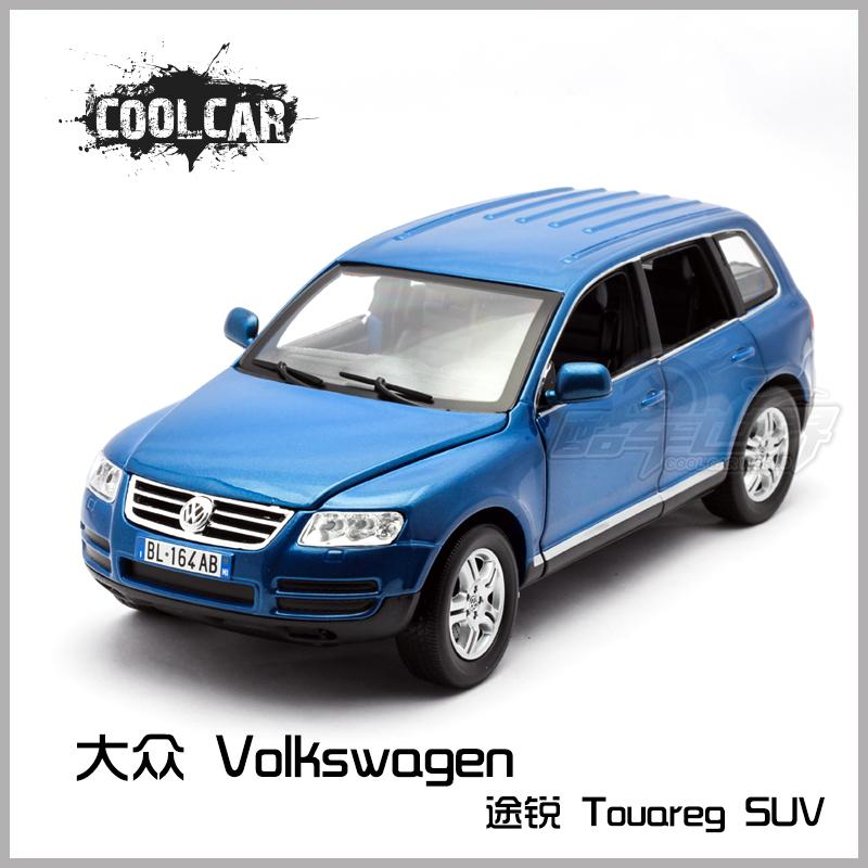 Volkswagen touareg off-road vehicles blue grey suv alloy car model(China (Mainland))