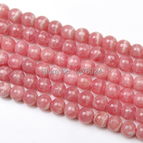 Argentina Natural Rhodochrosite Beads 15inch String 4 6 7mm Round Red Genuine Stone DIY Loose Beads For Bracelet Jewelry Making