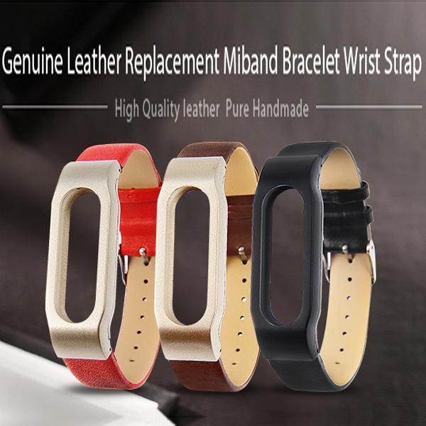 Xiaomi Mi Band Miband Leather Smart Bracelet Genuine Leather Wrist Strap Smart Band Original Xiaomi Mi Band Leather Wristbands(China (Mainland))