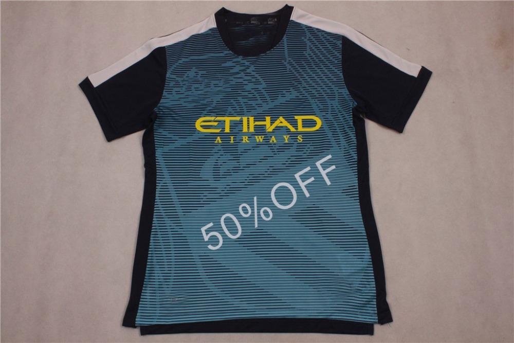 Best selling new football shirt Thai quality 2015-2016 Man C blue training shirt soccer jersey(China (Mainland))