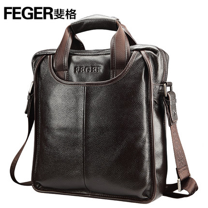 Genuine Leather Man Messenger Bags/handbags/document Cart Leather Bags for Men Briefcase For Ipad With Handle(China (Mainland))
