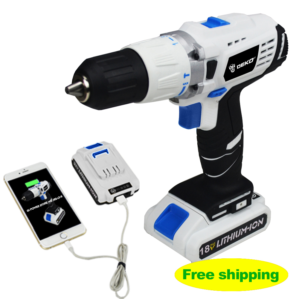 18V DC New Design Mobile Power Supply Lithium Battery Cordless Drill Power Tools Mini Drill Electric