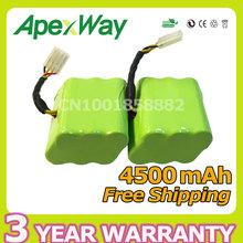 Apexway 2PCS 4500mAh 7.2V battery pack for Neato XV-21 XV-11 XV-15 XV-14 robot robotic vacuum cleaner accessory xv battery