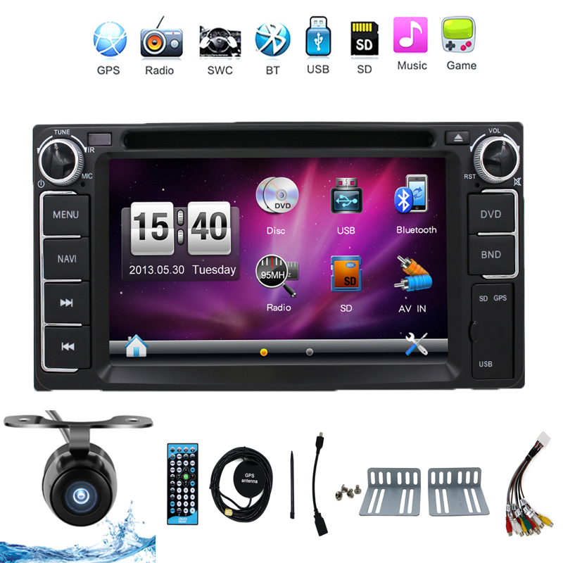 2015 Newest 2 Din Car Dvd Player Pc Gps Navigation Stereo Toyota Multimedia Capacitive Screen Universal Head Unit Double BT MP3(China (Mainland))