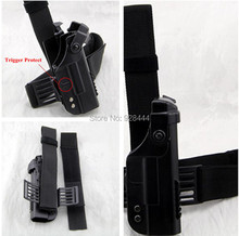 New Arrival Double Security Tactical Military Glock Leg holster High quality Adjustable belt Black or Sand Color