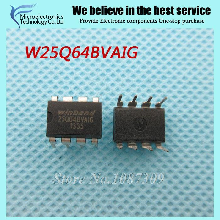 50pcs free shipping W25Q64BVAIG 25Q64BVAIG 25Q64 W25Q64 DIP-8 motherboard BIOS chip 8MB flash memory new original(China (Mainland))