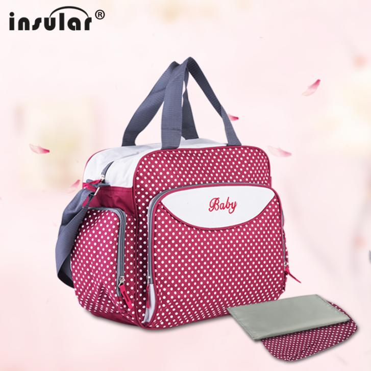 2015 Free Shipping Fashion Multifunctional 600D Baby Diaper Bags Nappy Bags Waterproof Large Capacity Mommy Bag Changing Bag(China (Mainland))