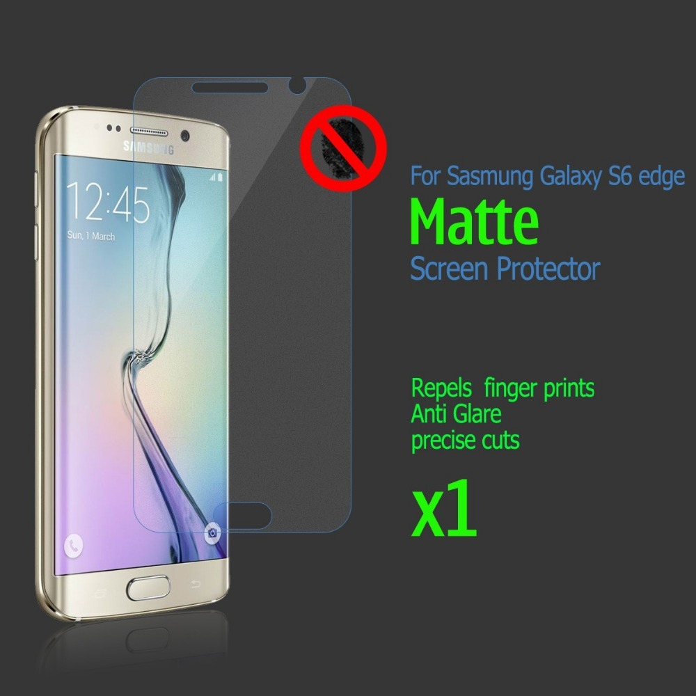 Anti-glare Matte Screen Protector Guard Protective Film Samsung Galaxy S6 edge Clearing Cloth - Icablelink Electronics Limited store
