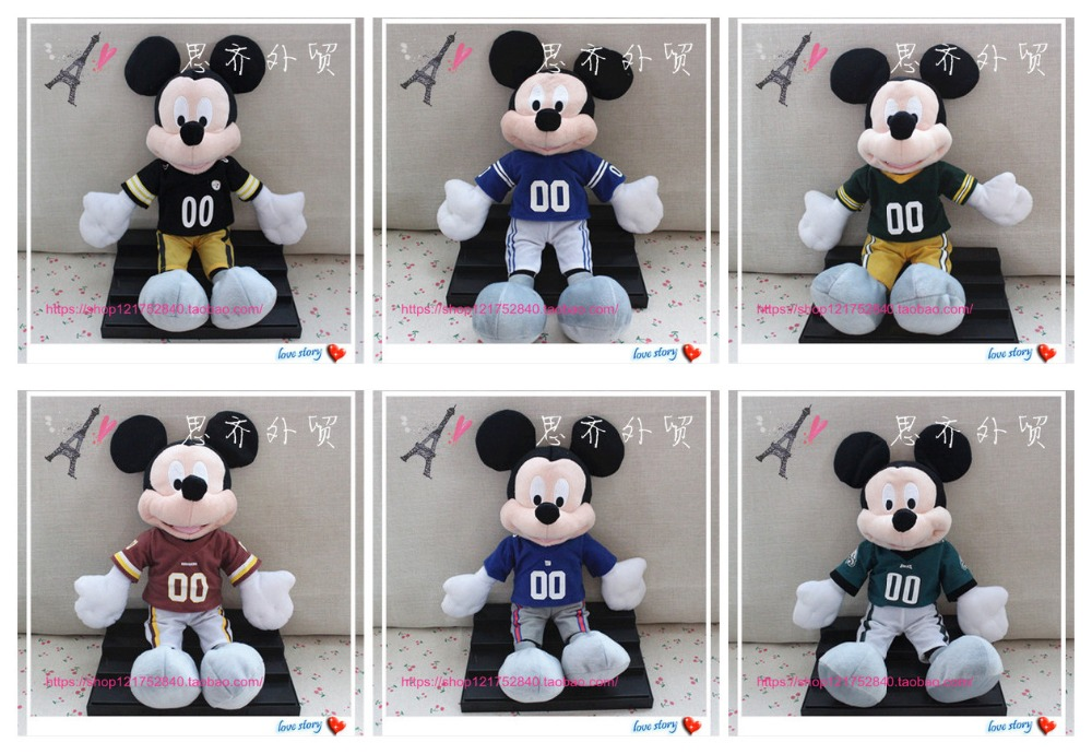 free shipping 1pcs 40cm Original NFL mickey mouse plush soft doll, Colts Steelers Giants Redskinsstuffed toys for kids toys(China (Mainland))