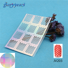 2016 1PC Nail Stencil Nail Sticker Ultra Thin Hollow DIY Pattern Fish Scale Manicure Nail Art Template Tools JV203 Decal Sticker(China (Mainland))