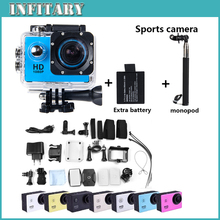 SJ4000 Action Camera Diving 30M Waterproof 1080P Full HD Helmet Go Pro hero3 style Camera Sports DV+battery+monopod free shiping
