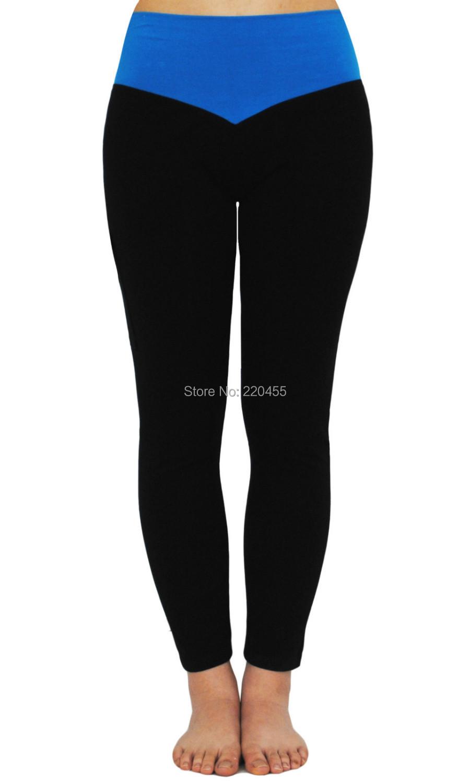 Womens Slim Capri Leggings long Pants Skinny Trousers Sports Running Fitness Dancerwear Patchwork Mid Rise Waist 1099 - iLoveSIA store