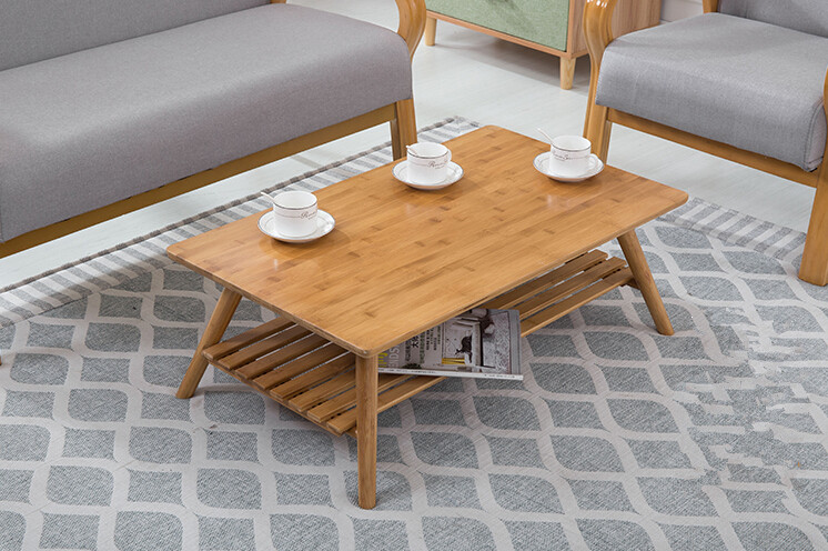 Contemparay Bamboo Table Legs Foldable Natural Finish Bamboo Furniture Small Wooden Living Room Table Center Sofa Coffee Table(China (Mainland))