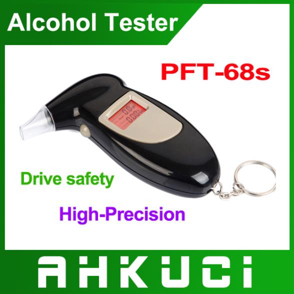 5pcs/lot Portable Breath Alcohol Analyzer, Digital Breathalyzer Tester,LCD Display in Two Units: %BAC & g/L, Free shipping(China (Mainland))