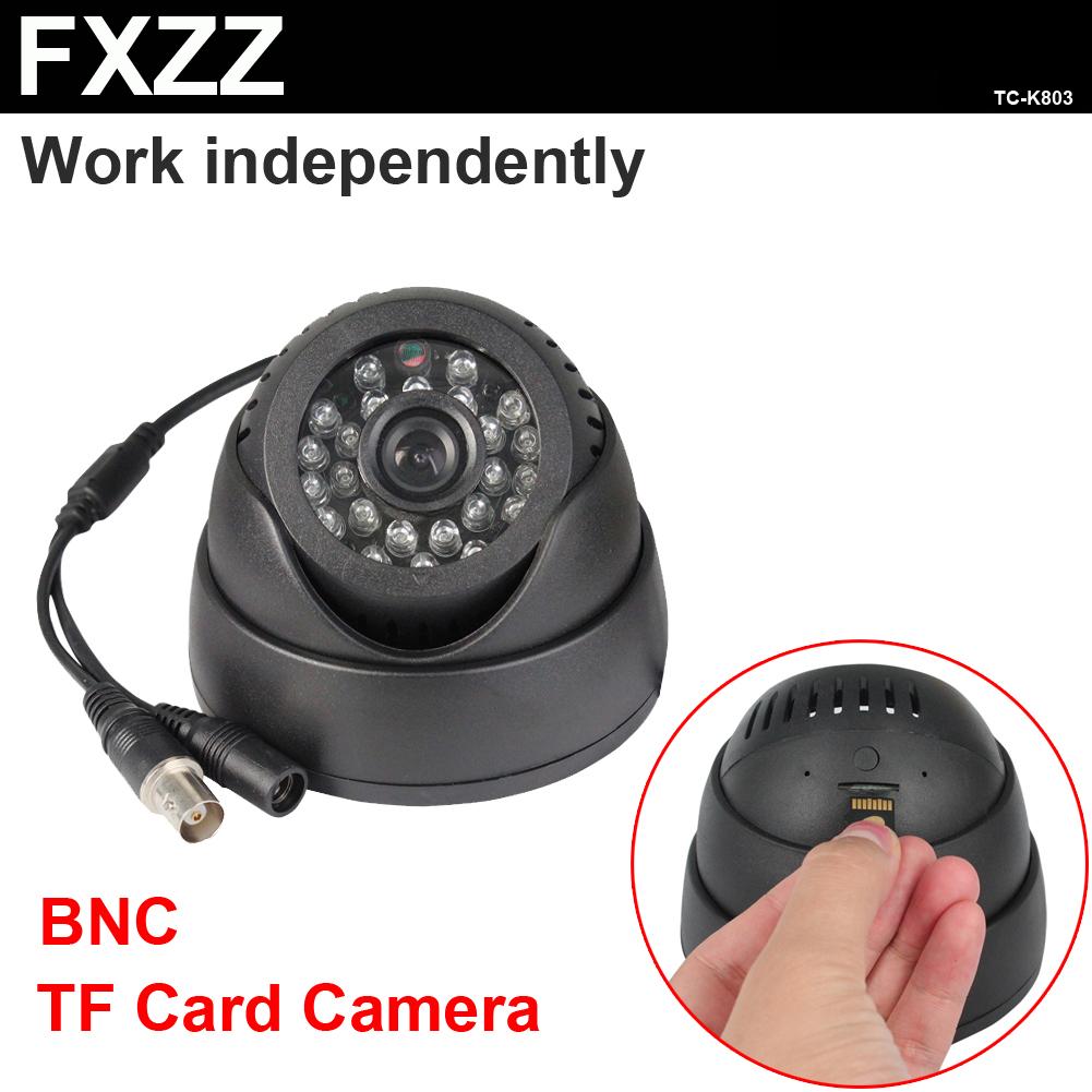 BNC Sony CMOS HD outdoor SD card dom 24 LED IR night vision security surveillance camera mini video recorder system K803(China (Mainland))