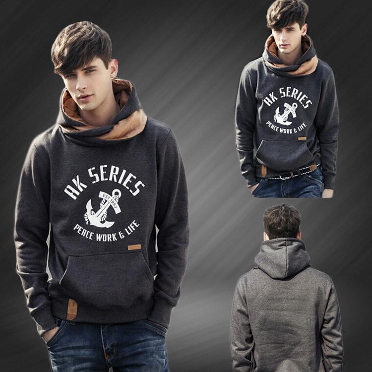 Men Hoodies 2015 New Style Turtleneck Spring Autumn Undetachable-hood Casual Sweatshirts M0165Одежда и ак�е��уары<br><br><br>Aliexpress