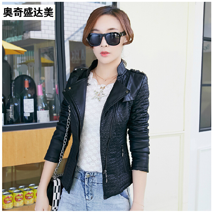Leather coat women 2015 new leather clothing short casual jackets motorcycle jacket spring women leather jacket 4XL large sizeОдежда и ак�е��уары<br><br><br>Aliexpress