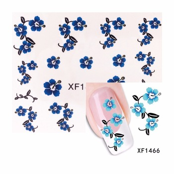 YZWLE 1 Sheet Nail Water Transfer Decals Flower Designs Nail Stickers UV Gel Decoration Makeup Tools 1466