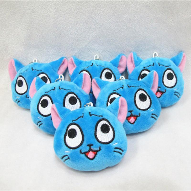 "[PCMOS] 2016 New Anime 1pc Anime Fairy Tail 3"" Mini Happy Cat Pendant Plush Toy Stuffed Doll Arcade Prizes 3277(China (Mainland))"