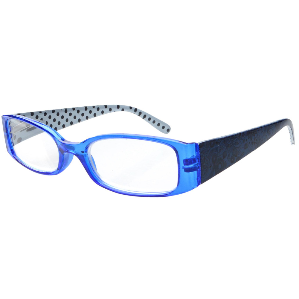 r040p hinges polka dots patterned temples reading