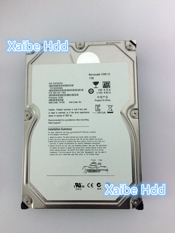 Barracuda 1TB 7200rpm 32MB SATA2 3.5inch Internal Hard Drive for Desktop DVR Hard Disk(China (Mainland))