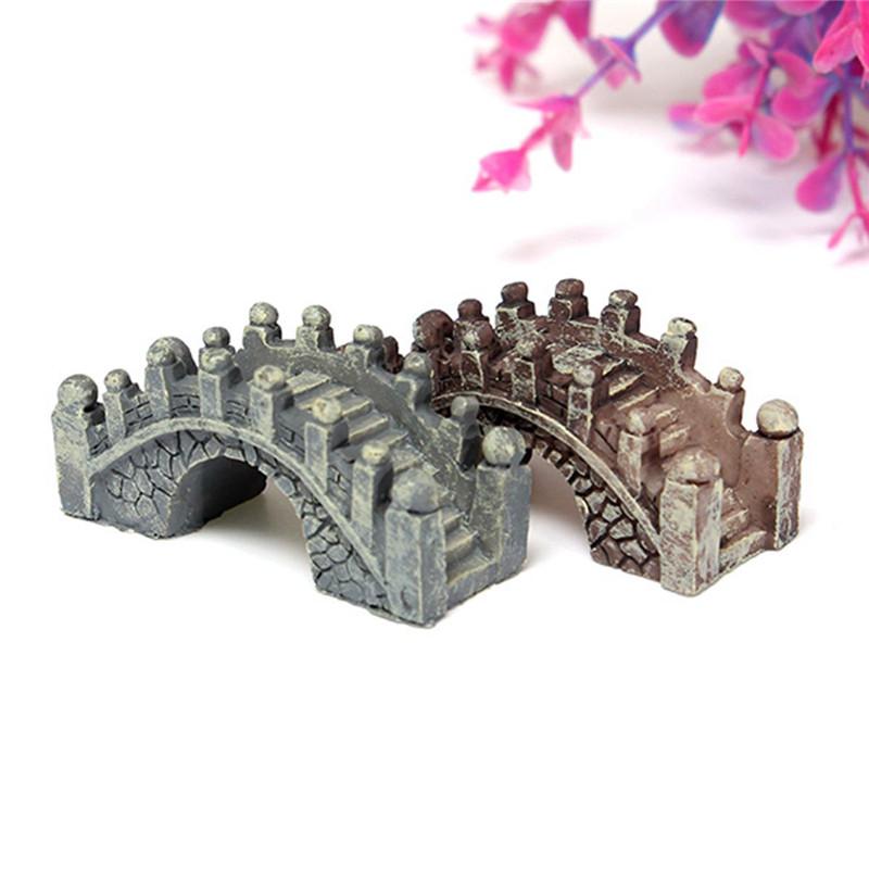 Refinement Landscape Miniatures Micro Small Stone Bridge Ornament Scenery Bonsai Gardening Accessories DIY Resin Crafts(China (Mainland))