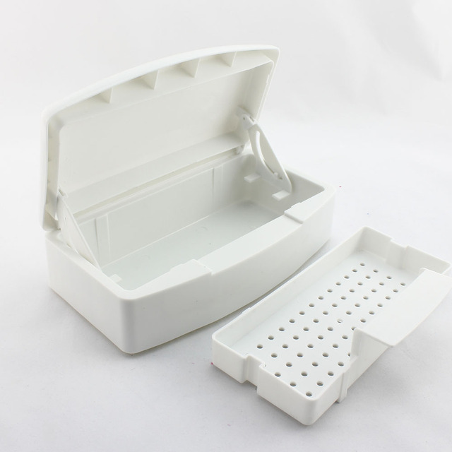 3 Pcs/lot  Nail Art Sterilizer Tray Box forEsterilizador Clean Nail Sterilizing Nail Art Tools Wholesale  SKU:F0059X