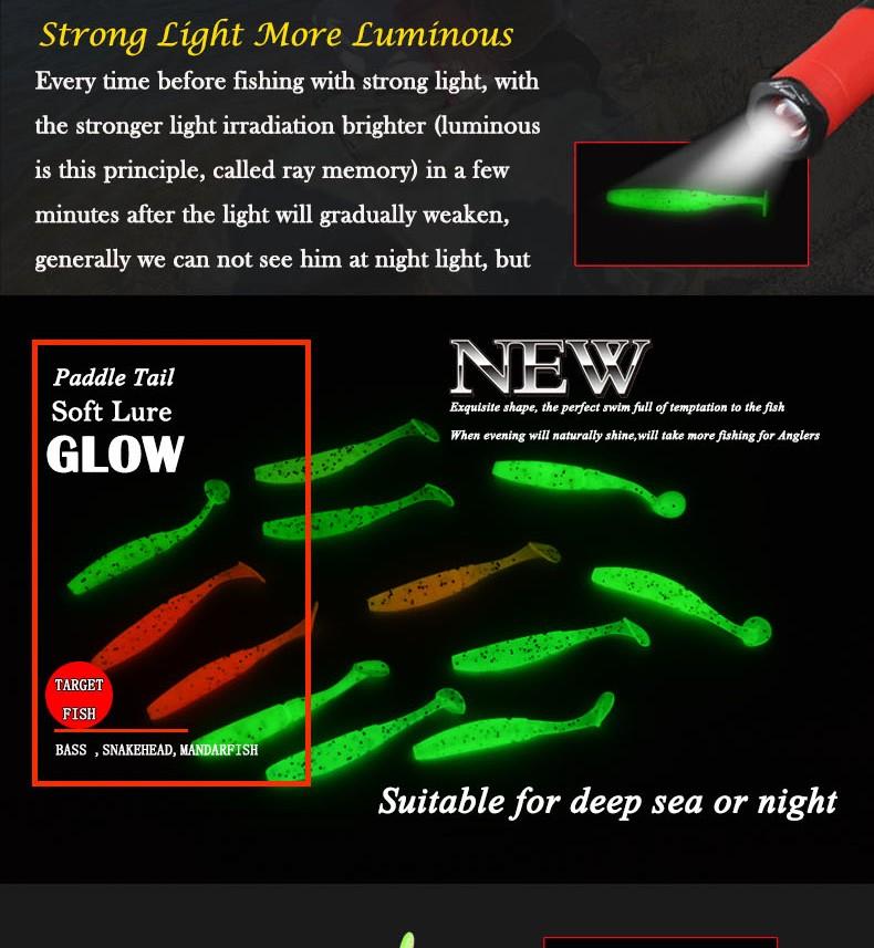 15PCS AFISHLURE Drop Shot Small T Soft worm Fishing Lures Baits 50mm//1g Jig Hook
