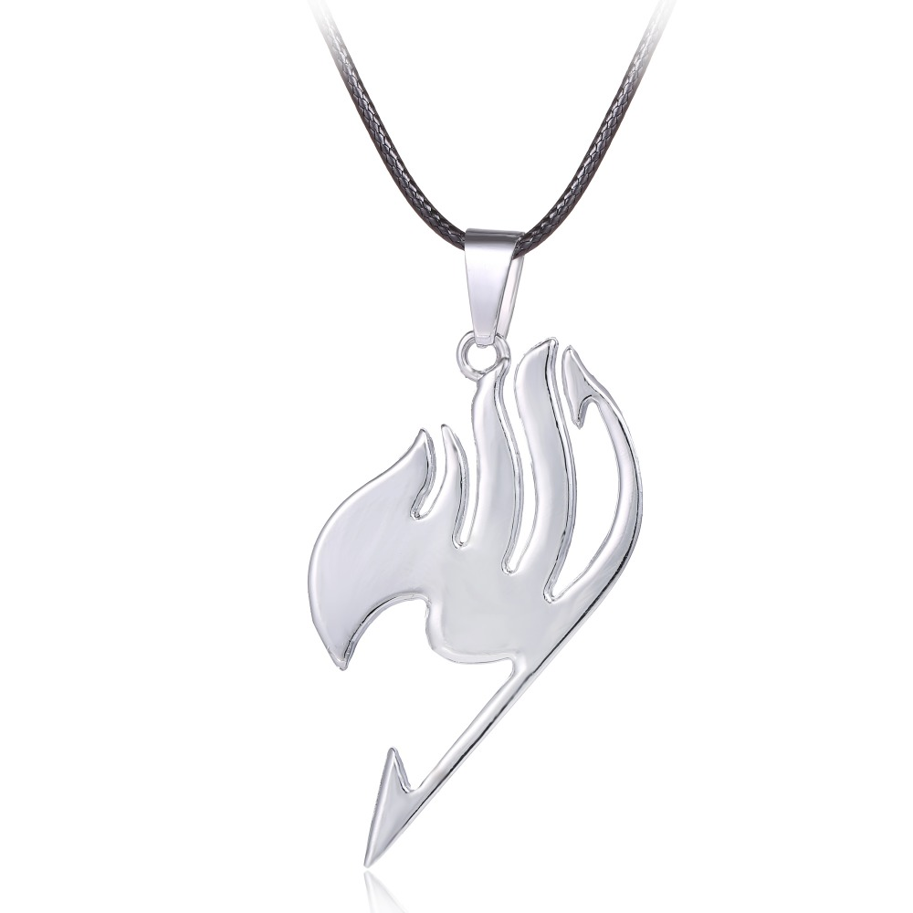 Movie jewelry Fairy Tail series Alloy necklace Anime fashion jewelry Fairy Tail silver pendant keychain auto(China (Mainland))