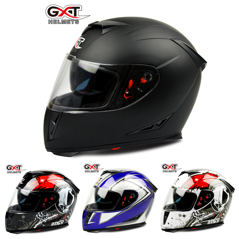 Free shipping GXT anti-fog dual lens full face helemt capacete cascos motorcycle motoqueiro electric car Bicycle Safety helmets(China (Mainland))