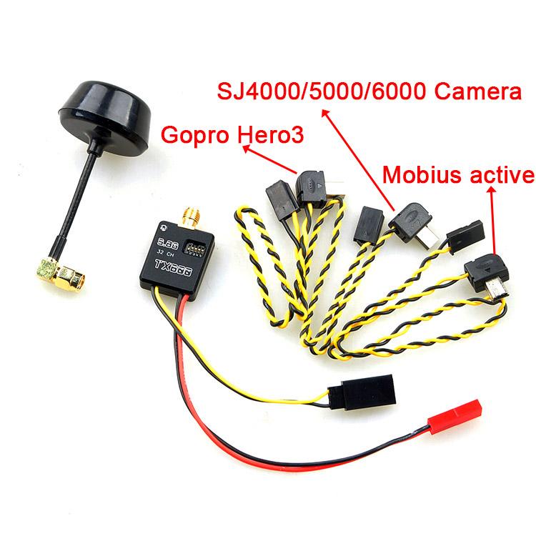 FPV 5.8G 600mW 32Ch A / V FPV Transmitter Module Mushroom Antenna for GoPro Hero 3/4 SOOCOO SJ4000 / 5000/6000 Camera General <br><br>Aliexpress
