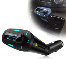 Universal Blue LCD Car Kit MP3 Music Player Wireless FM Transmitter Modulator Radio Adapter USB SD