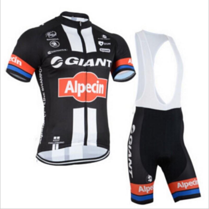 2015 black&white giant cycling jersey quick-dry pro cycling clothing sportswear bicycle bibs set free shiping(China (Mainland))