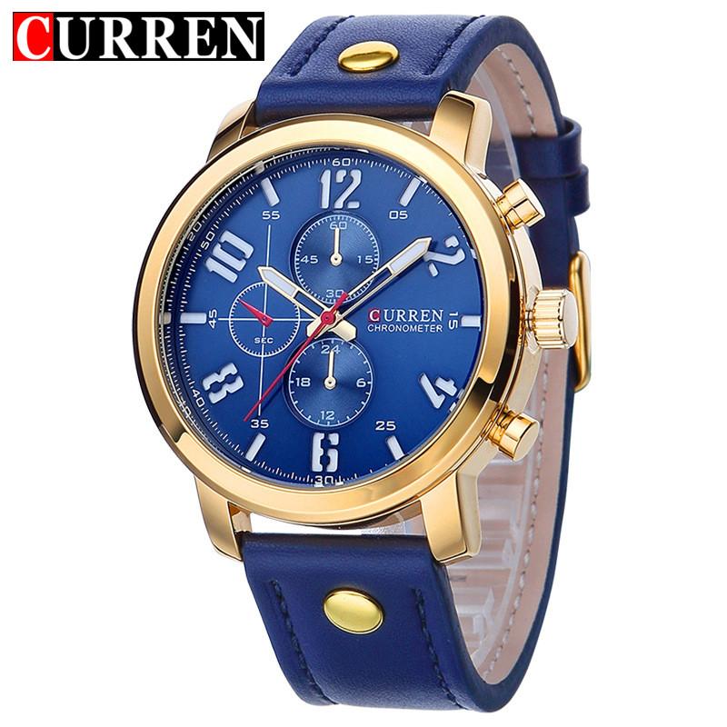 Relogio Masculino Fashion Analog Display Orologio Uomo Quartz Watch Curren Male Watch Leather