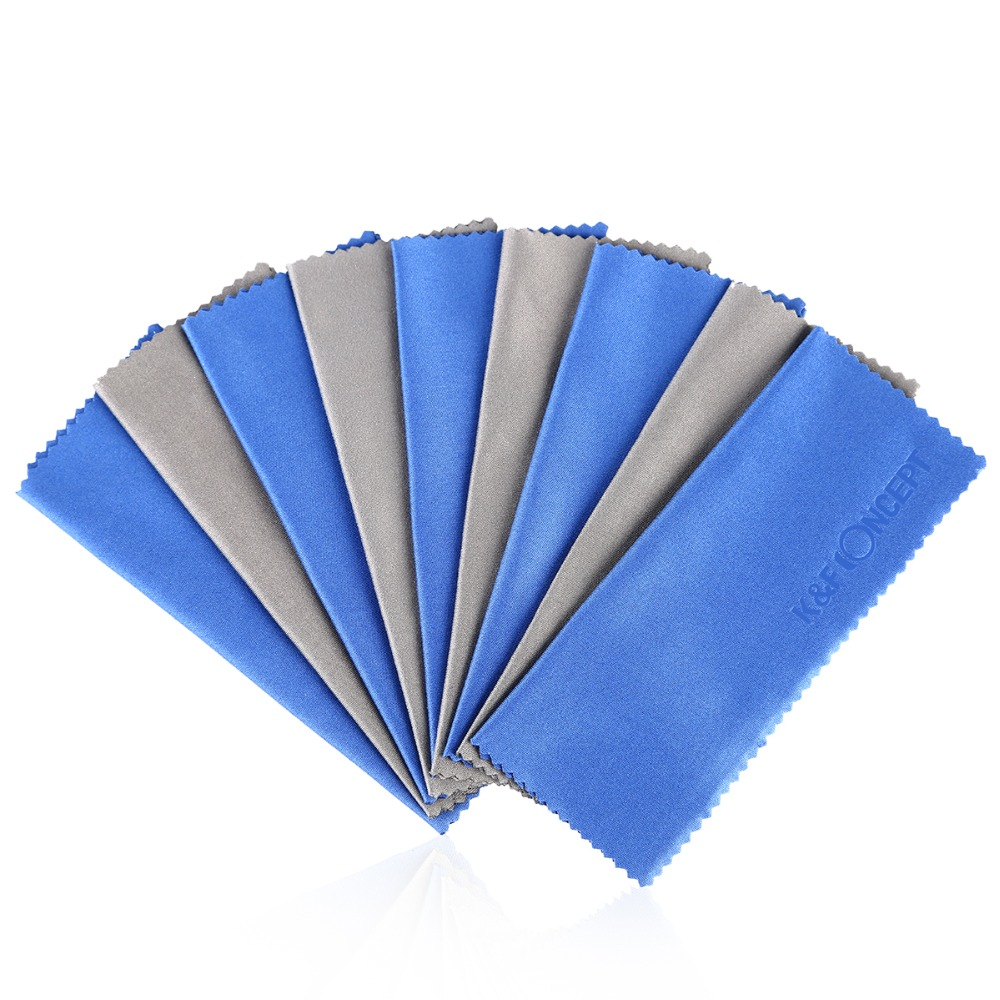 10pcs/lot Glasses Camera Lens Micro Fiber Cleaning Cloth DV CD Phone Screen Cleaner For Canon Lens Cleaning Kit