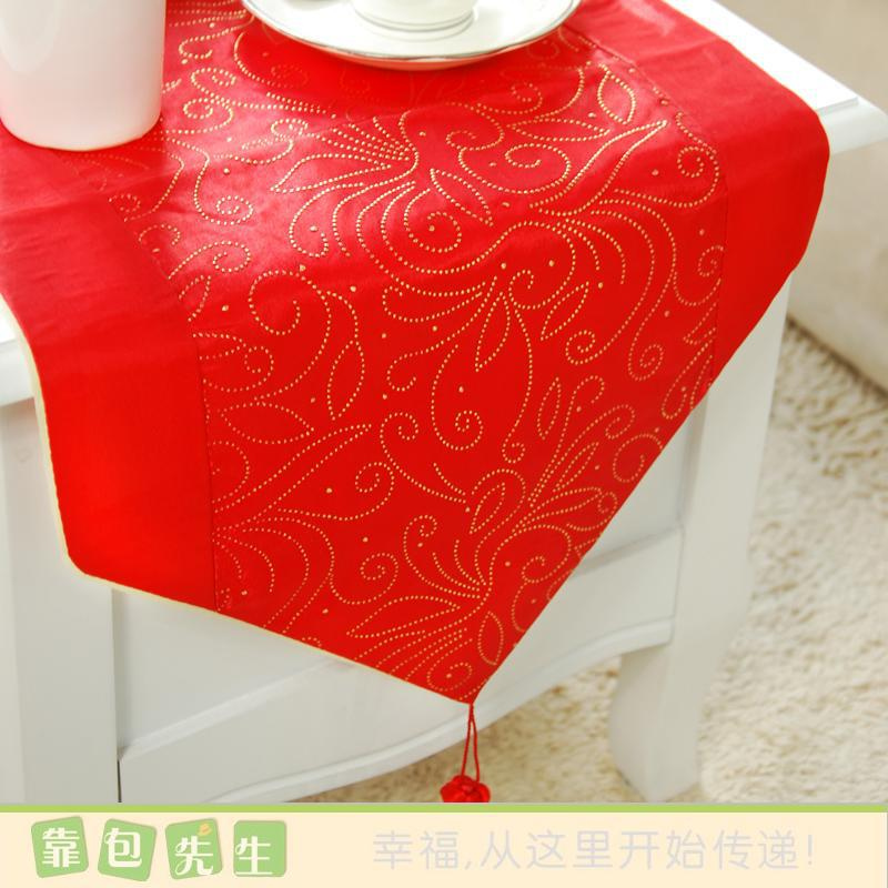 Domestic act the role ofing table cloth napkins High quality reproduction of simulation silk table flag(China (Mainland))