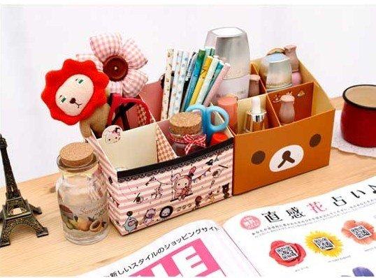 Freeshipping! New Rilakkuma series table box/clean up box / Multi-function / DIY Storage / paper pencil box/Wholesale(China (Mainland))