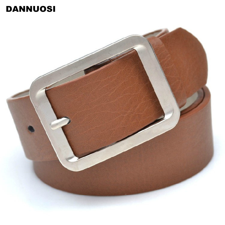 [DANNUOSI]2014 new classic wild fashion classic casual belt buckle on the word business men and women metal buckle belt(China (Mainland))