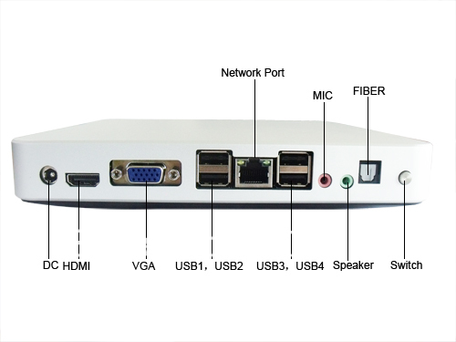 Mini Net Computer Thin Client PC Sharing Network Terminal support linux Win7 and HD1080P movie(China (Mainland))