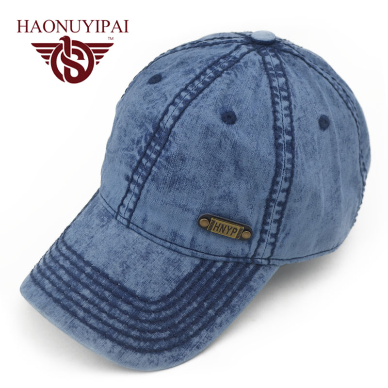 Hot Sale Mens Baseball Caps Brand Womens Jeans Denim Hats Blue Adjustable Adult Bone Snapback Cap Casual Outdoor Sun Visors Hats(China (Mainland))