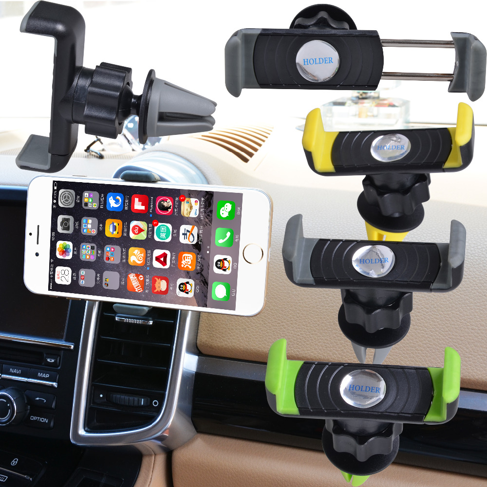 Universal Car Air Vent Cell Phone Holder In Car Mount For Your Iphone 6/Plus 5s 4 Mobile Phones GPS Accessories Stand Holders(China (Mainland))