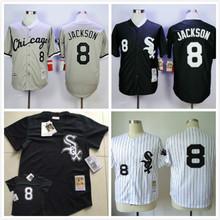 Chicago White Sox 8 Bo Jackson Jersey White Gray Black Throwback Stitched Jerseys(China (Mainland))