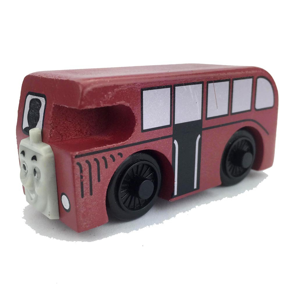 Double Deck Bus Bertie Wooden Train Toy Magnetic Engine Railway Train Kids Toys One Piece Children Gift(China (Mainland))