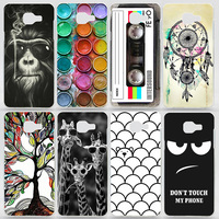 Case For Samsung Galaxy A7 2016 A710 A710F Transparent Coloured Drawing Phone Cover For Samsung A7 2016 Plastic Hard Phone Cases