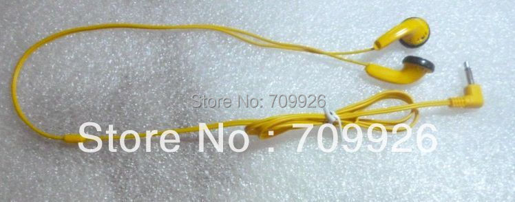 Disposable yellow earphones/ headphones Cheap earbuds 3000pcs/lot(China (Mainland))