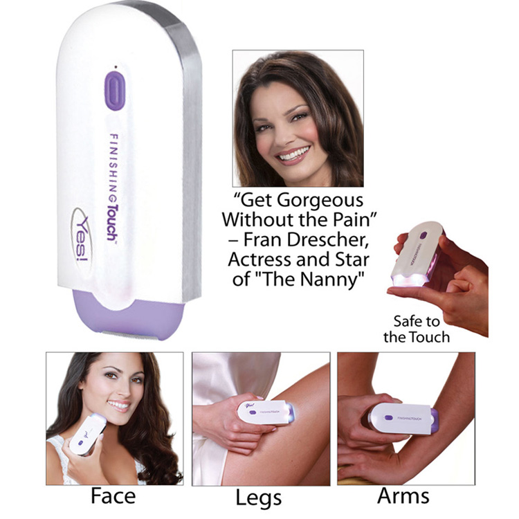 By Yes! Finishing Touch Epilator Hair Remover With Advanced Sensa-light Hair Shaver Instant Painless Hair Removal for Face Body(China (Mainland))